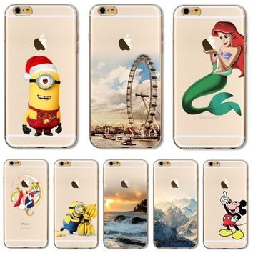 Soft TPU Cover For Apple iPhone 5 5S SE 6 6S 7 7Plus Case Cases Phone Shell Newe