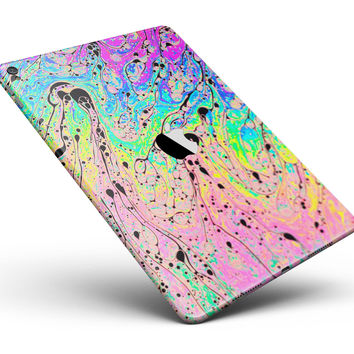 """Neon Color Fushion with Black splatters Full Body Skin for the iPad Pro (12.9"""" or 9.7"""" available)"""