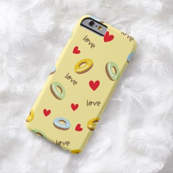 Claire Blossom Colorful doughnut yellow Barely There iPhone 6 Case