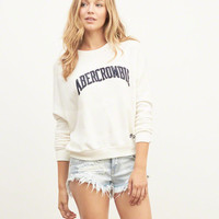 Slouchy Applique Logo Graphic Sweatshirt