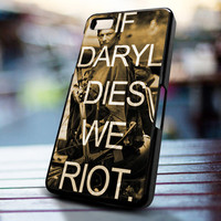 If Daryl Die We riot design for iPhone 4/4s, Iphone 5, Samsung Galaxy S3, Samsung S4, Blackberry Z10, Ipod 4 & Ipod 5 from stevaz store