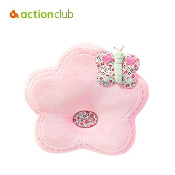 Actionclub Baby Pillow Girl Cartoon Flower Infant Sleeping Pillow Neck Protection Shaping Baby Memory Foam Nursing Pillows