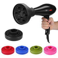 1 PCS 5 Color Foldable Silicone Salon Curly Hair Dryer Diffuser Cover Styling Hairdressing Curl DIY Blower Makeup Tool Accessory