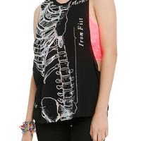 Iron Fist Foil Ribcage Muscle Tank Top