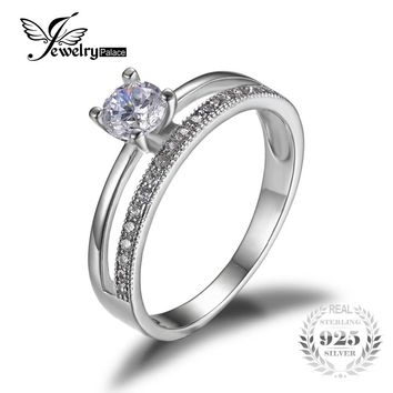 JewelryPalace 0.6ct Anniversary Wedding Band Engagement Ring Set Guard Enhancer 925 Sterling Silver Jewelry