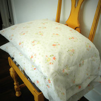 Etsy Sale - Set of Two Vintage - Antique Flowers - Pillow Cases STANDARD