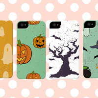 Halloween Themed Pumpkin and Ghost iPhone Case