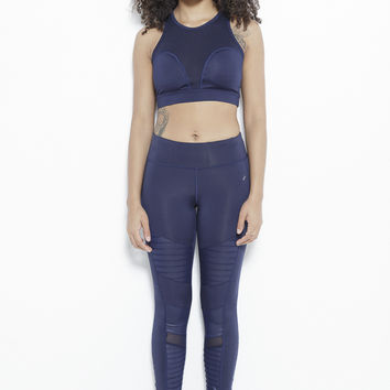 The Ripple Dream Active Leggings-Navy