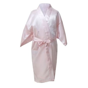Kids Robe Satin Children Summer Kimono Bath Robes Bridesmaid Girl Dress Silk Child Bathrobe Nightgown Solid Robes
