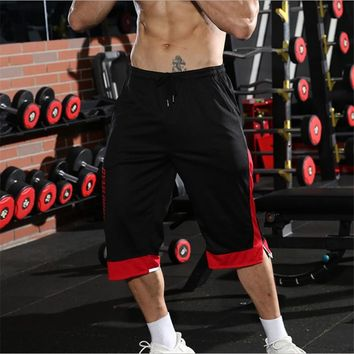 YEMEKE Men Gyms Fitness Shorts Summer Casual Fashion Cool Short Pants Male Jogger Bodybuilding Workout Man Brand Sweatpants