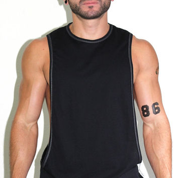 Core Low Armhole Tank-Black