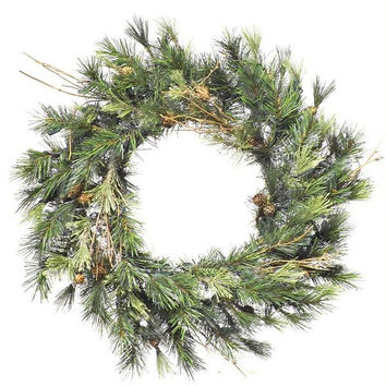 "Artificial Christmas Wreath - 24 ""  - Country Pine"
