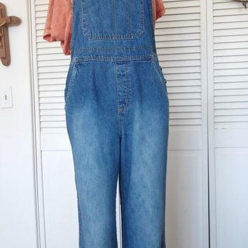 Size Small Womens Blue Jean Bib Overalls farmer jeans hippie boho gypsy cowgirl style clothes
