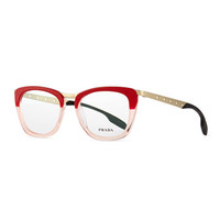 Prada Ombre Fashion Glasses, Red
