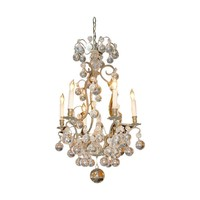 French Bronze Ball Chandelier