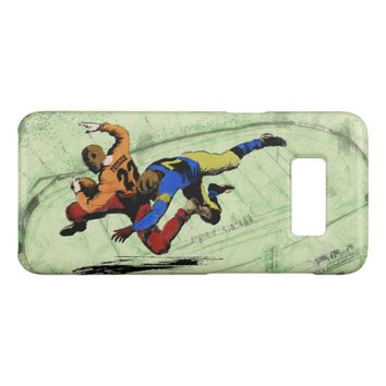 Vintage Retro American Football Players Old Comics Case-Mate Samsung Galaxy S8 Case