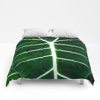 Emerald Elephant Comforters by Chancelrie