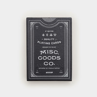 Misc. Goods Co. Black Playing Cards