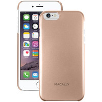 """MACALLY SNAPP6LCH iPhone(R) 6 Plus 5.5""""""""/6s Plus Snap-On Case (Metallic Champagne Gray)"""