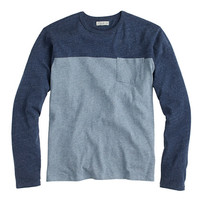 J.Crew Mens Slim Flagstone Long-Sleeve Colorblock Pocket