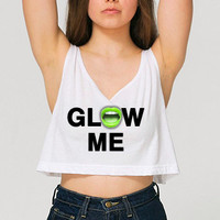 Rave Clothes - Save Water Spray Champagne - Womens Neon Crop Tanks - Bad Kids Clothing | Bad Kids Clothing