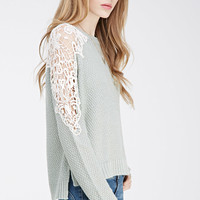 Crochet-Paneled Sweater