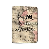 Travel Inspiration [Name Customized] Travel Leather Passport Holder - Passport Protector - Passport Cover - Passport Wallet_SUPERTRAMPshop (PPVA325)
