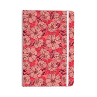 "Suzie Tremel ""Flutter Floral"" Red Petals Everything Notebook"