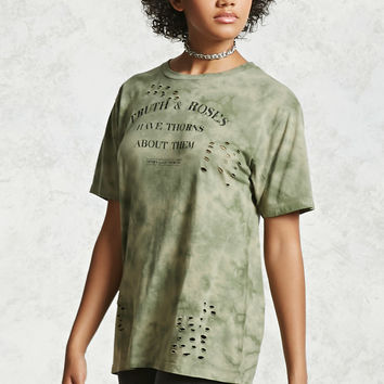Truth And Roses Distressed Tee