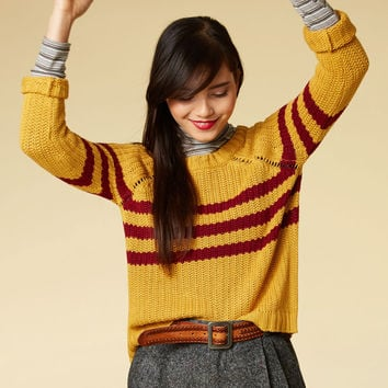 Mind Over Alma Mater Sweater | Mod Retro Vintage Sweaters | ModCloth.com