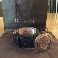 GREAT CONDITION!!!!!gucci guccissima Belt size 90cm