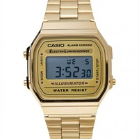Casio A168WG-9WDF Digital Bracelet Watch - Gold - Watches - Accessories - Shop | The Idle Man