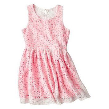 Cherokee® Girls' Layered Lace Dress - Assorted Colors