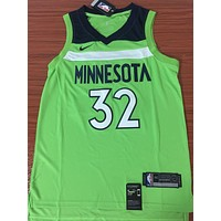 Minnesota Timberwolves #32 Karl-Anthony Towns Fluorescent Green Basketball Jersey