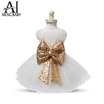Girl Party Dress Lace Flower Girl Tutu Tulle Dresses Baby Outfit Children's Costume for Kids Clothes