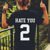 Casual Letter And Number Printed Black T-Shirt