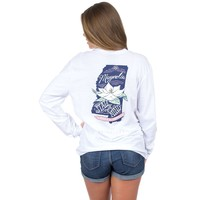 Mississippi Magnolia State Long Sleeve Tee in White by Lauren James - FINAL SALE