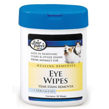 Four Paws Eye Wipes for Dogs & Cats 30 Pack