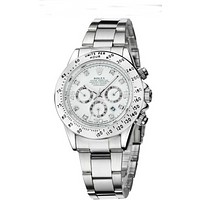 """ROLEX"" Lover Popular Luxury Diamond Quartz Watch Casual Wristwatch Silvery Watchband+Silvery Dial I-YY-ZT"