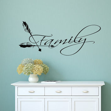 Boho Arrows Wall Decal Family Decals Family Vinyl Lettering Sayings Stickers Home Bedroom Boho Decor T140