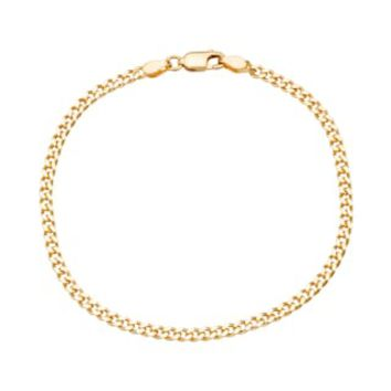 Sterling Silver Curb Chain Bracelet | null