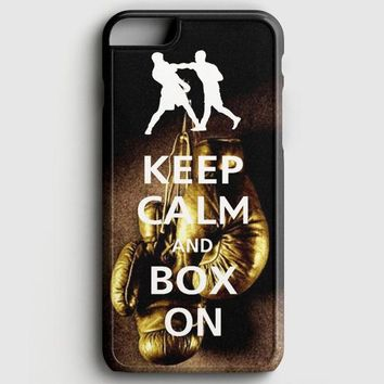 Keep Calm Wwe Boxing Gloves iPhone 8 Case
