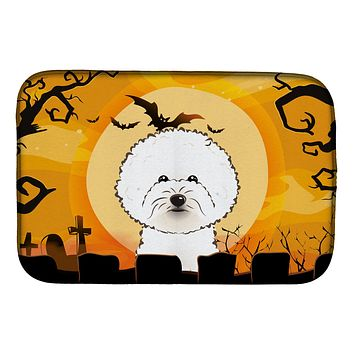 Halloween Bichon Frise Dish Drying Mat BB1775DDM
