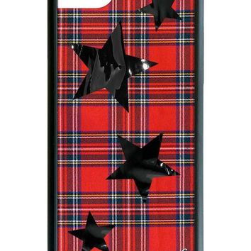 Tartan Black Stars iPhone 6/7/8 Case