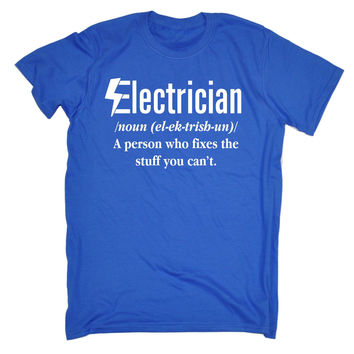 123t USA Men's Electrician Fixes The Stuff You Can't Funny T-Shirt