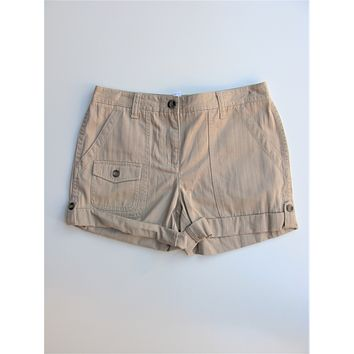 Charter Club Saturday Style Adjustable Rolled Cuff Chino Cargo Shorts NWOT