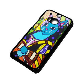 ROMERO BRITTO MONALISA HTC One M8 Case Cover