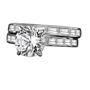 2 CT. Intensely Radiant Round Center Diamond Veneer Cubic Zirconia Wedding/Engagement Sterling Silver Ring. 635R71628