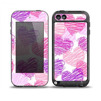 The Loopy Pink and Purple Hearts Skin for the iPod Touch 5th Generation frē LifeProof Case