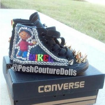 Sid the Science Kid Inspired Custom Spiked Converse